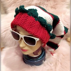 Crazy cute, homemade, holiday hat!!